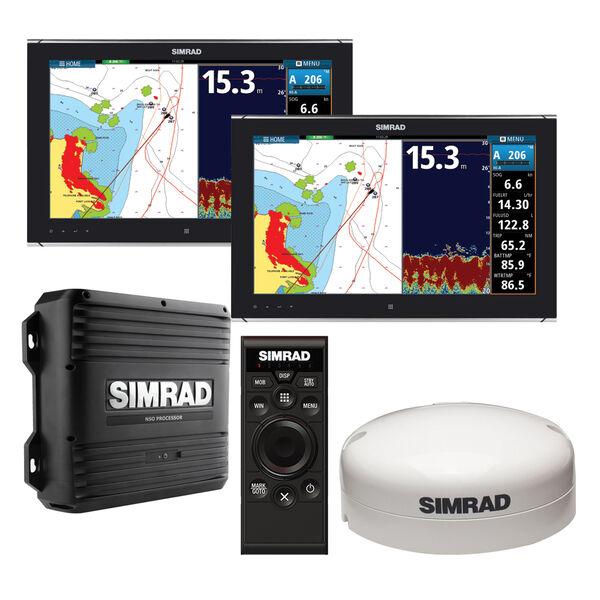 "Simrad NSO evo2 Dual 19"" Multi-Touch Monitor Bundle"