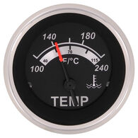 "Sierra Black Sterling 2"" Water Temperature Gauge"