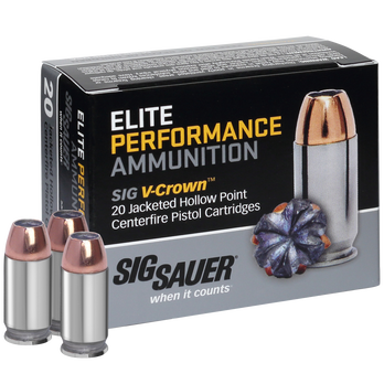 SIG Sauer Elite Performance V-Crown Ammo, .380 ACP, 90-gr., JHP
