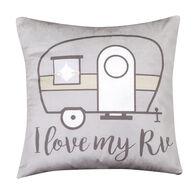 "Love My RV Pillow, 16"" x 16"""