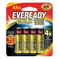 Eveready Gold AA Alkaline Batteries, 4-pack