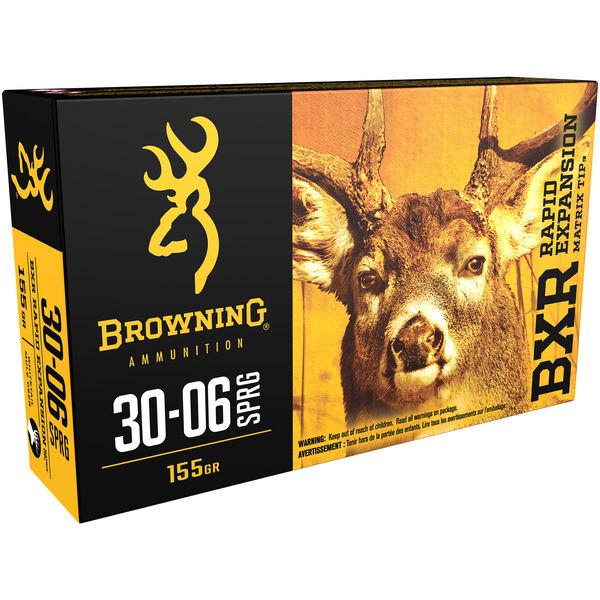 Browning BXR Rapid Expansion Matrix Tip Deer Rifle Ammo, .30-06 Sprg, 155-gr.