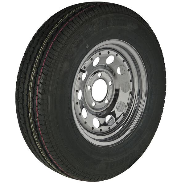 Trailer King II ST215/75 R 14 Radial Trailer Tire, 5-Lug Chrome Modular Rim