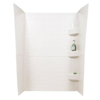 """ABS Shower Walls, 24"""" x 40"""" x 66"""", Parchment"""