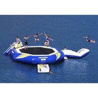 Aquaglide SuperTramp 14' Trampoline, Blast Air Bag, And Plunge Slide Set