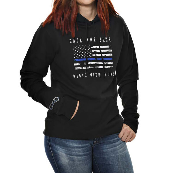 Girls With Guns Back The Blue Pullover Hoodie