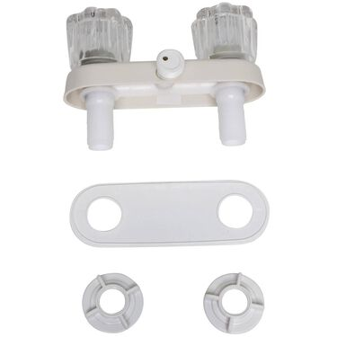 Replacement Exterior Shower Valve, White