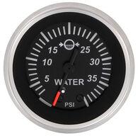"""Sierra Black Sterling 2"""" Water Pressure Gauge"""