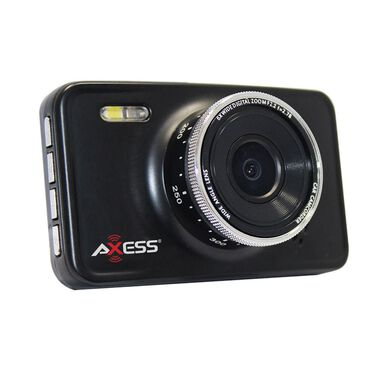 Axess Dash Camera & Car DVR with Motion, Black