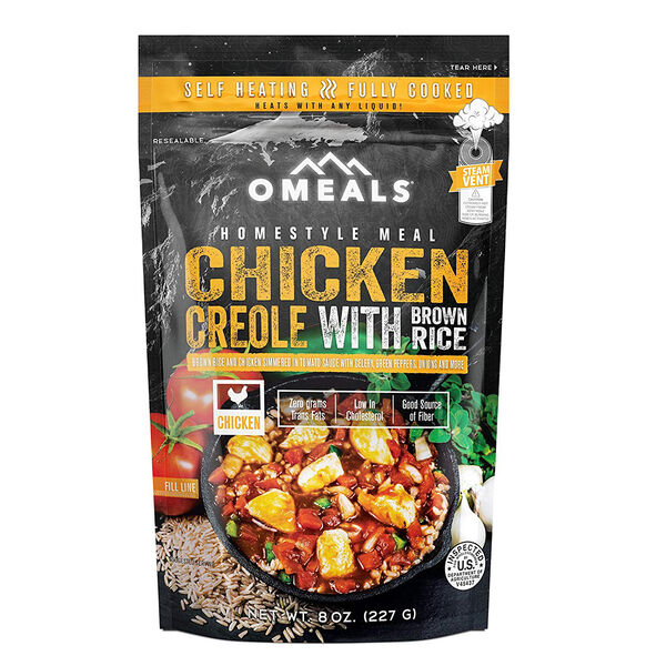 OMEALS Self-Heating Meal, Chicken Creole With Brown Rice