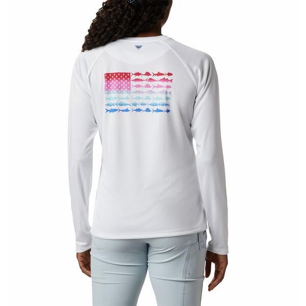 Columbia Women's Tidal Tee PFG Fish Flag Long-Sleeve T-Shirt