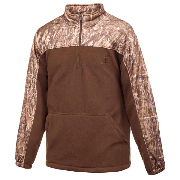 Huntworth Men's Anti-Pill Fleece Quarter-Zip Pullover