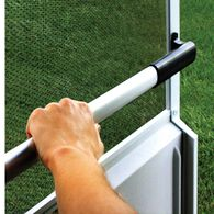 Screen Door Crossbar, Black Handle