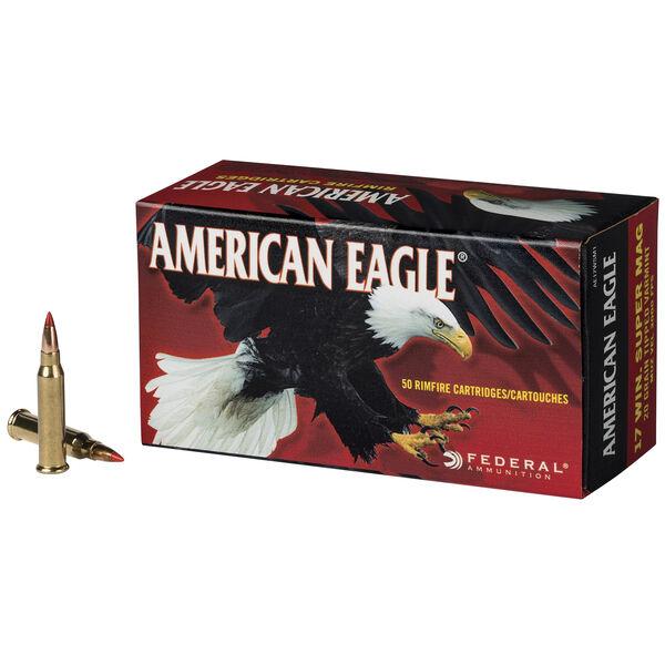 American Eagle Rimfire Tipped Varmint Ammo, .17 Win Super Mag, 20-gr.