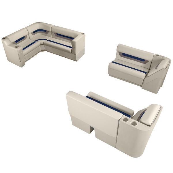 Designer Pontoon Furniture - Complete Boat Package, Platinum/Midnight/Mocha