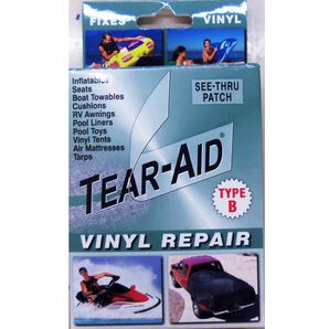 "Tear-Aid Vinyl Repair Kit, Type B, 3"" x 12"" patch"