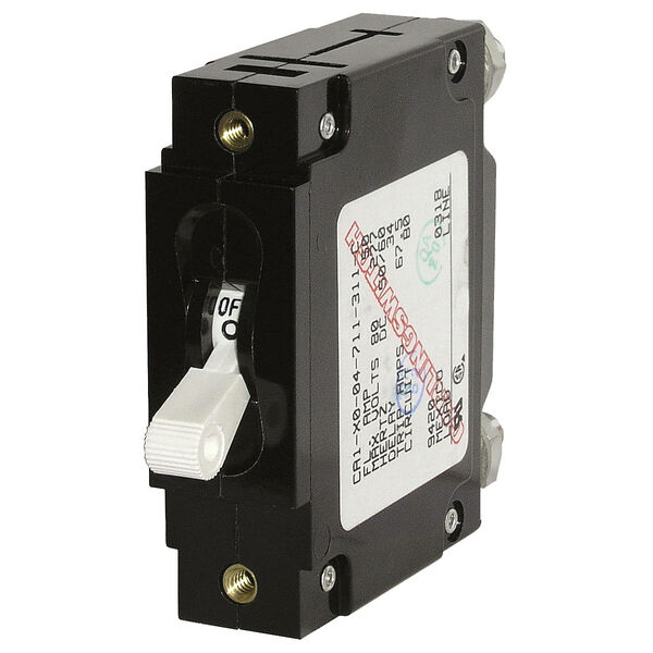 Blue Sea Systems C-Series Toggle Switch Circuit Breaker, Single Pole 20 Amp