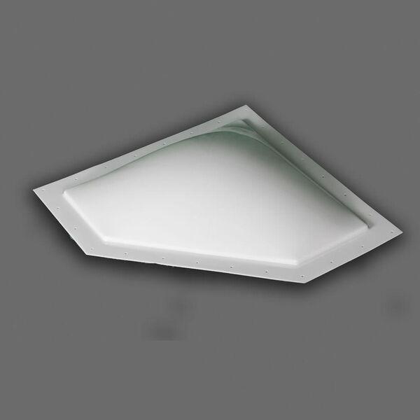 "Neo Angle Thermoformed Polycarbonate RV Skylight, 24"" x 12"" White"