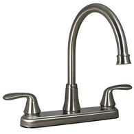 Kitchen 2-Handle Faucet, Brushed Nickel Finish