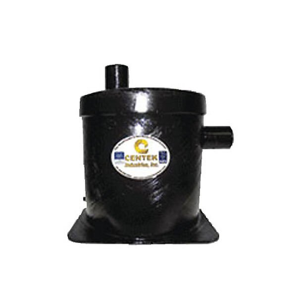 """Vernalift Side In/Top Out Wet Marine Exhaust Muffler, 1-1/2"""" Inlet/Outlet"""