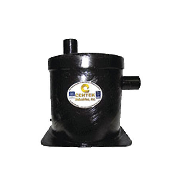 """Vernalift Side In/Top Out Wet Marine Exhaust Muffler, 2"""" Inlet / 2-1/2"""" Outlet"""