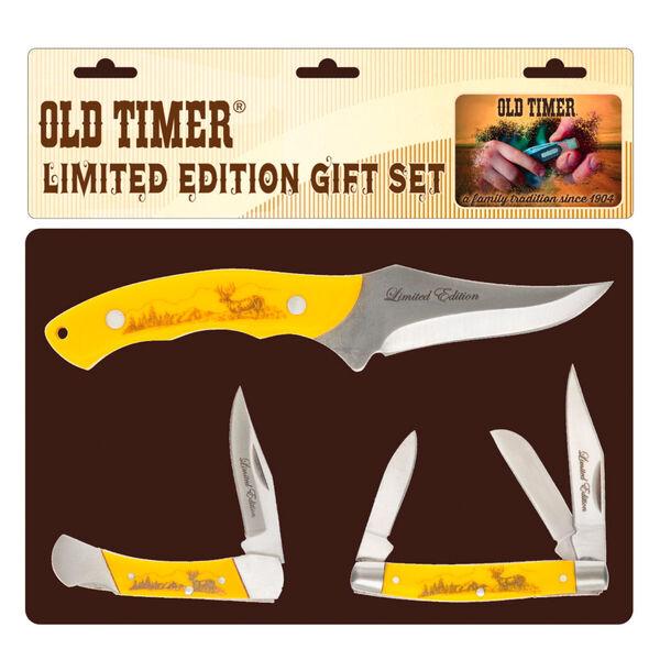 Old Timer Scrimshaw 3-Piece Knife Set