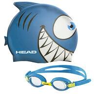 Head Meteor Kid's Goggles And Swim Cap Set