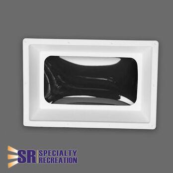 """Rectangular Inner RV Skylight, White Frame/Clear Top 14"""" x 22"""""""