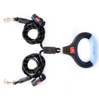 Wigzi Two-Dog Rope Leash with Rechargeable Lights and Tangle Free Coupler