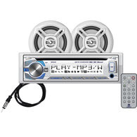 """Dual MCP420BT CD/USB/MP3/WMA Bluetooth Receiver With Two 6.5"""" Speakers"""