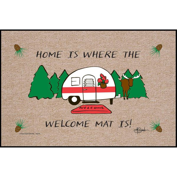 "Home Is Where You Park It Door Mat, 18"" x 27"""