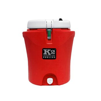 K2 Summit 5 Gallon Water Jug, Red and White