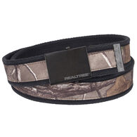 """Realtree Men's 1.5"""" Cotton Web Belt with Camo Inlay"""