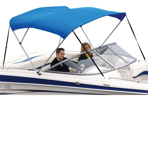"""Shademate Polyester 3-Bow Bimini Top, 5'L x 32""""H, 73""""-78"""" Wide"""