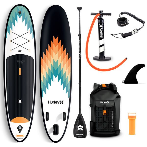 """Hurley Advantage 10' 6"""" Outsider Inflatable Stand-Up Paddleboard Package"""