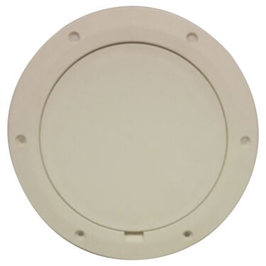 "DPI 8-1/8"" Pry-Out Cover/Deck Plate, Marine Creamy White"