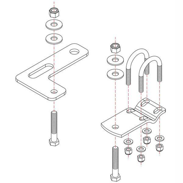 Roadmaster Reflex Steering Stabilizer Mounting Bracket, RBK10