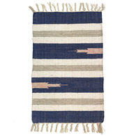 Multi-Color Wide-Striped Cotton Rug