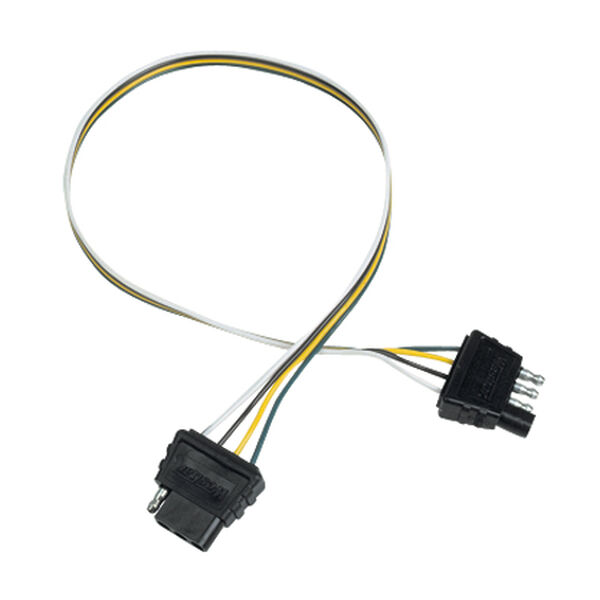 """Wesbar 4-Way Flat Trailer Plug Extension Harness With 24"""" Pigtail"""
