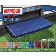 "Wraparoundd Plus RV Step Rug, 20"", Imperial Blue"
