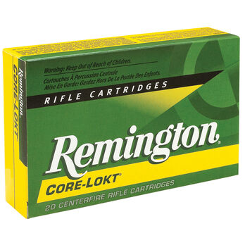 Remington Core-Lokt Rifle Ammunition, .30-06 Sprin, 150-gr., PSP