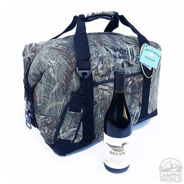 Polar Bear 24 Pack Cooler, Mossy Oak Duck Blind