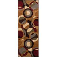 "Festival Collection Rug, Circle Design, 2'7"" x 7'3"", Multi-Color"
