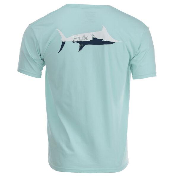 HUK Men's Marlin Sporty Patch Short-Sleeve Tee