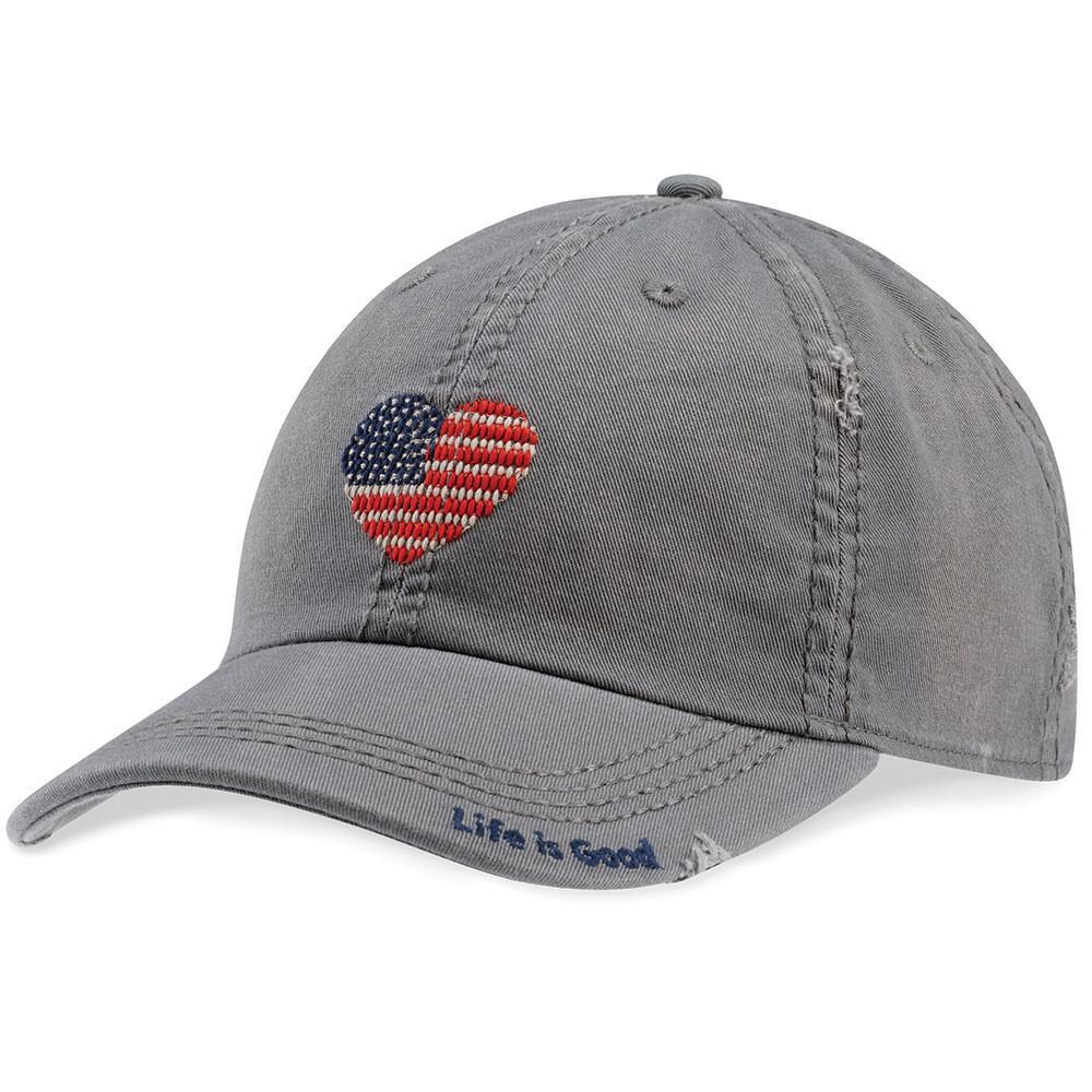 Women's Life Is Good® Heart Flag Cap