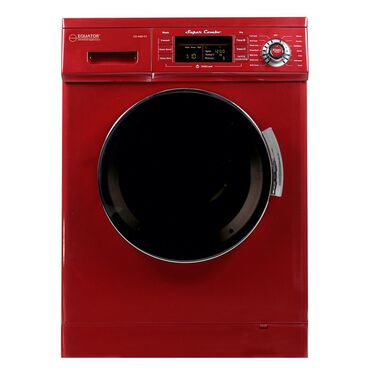 All-In-One Compact Combo Washer/Dryer 1200 RPM spin Auto Water Level Sensor Dry Optional Venting/Condensing in Merlot