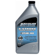 Quicksilver 4-Cycle SAE 25W-40 Sterndrive/Inboard Oil Quart