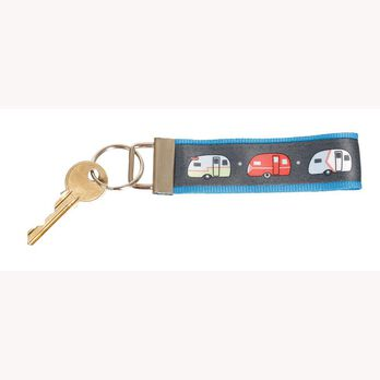 Campers Keychain, Blue