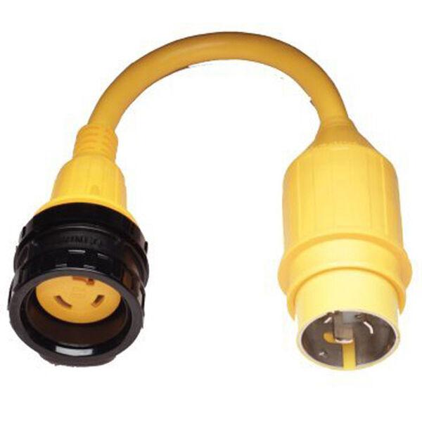 Marinco Pigtail Adapter, 30A 125V / 50A 125V