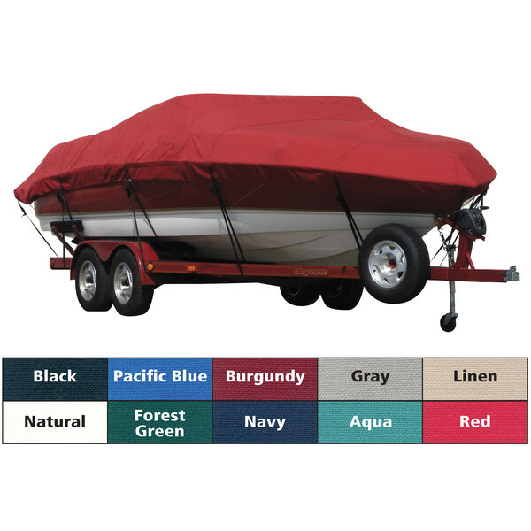 Exact Fit Covermate Sunbrella Boat Cover For COBALT 240 BR NO TOWER w/BIMINI VERTICLE STORAGE COVERS INTERGRATED PLATFORM